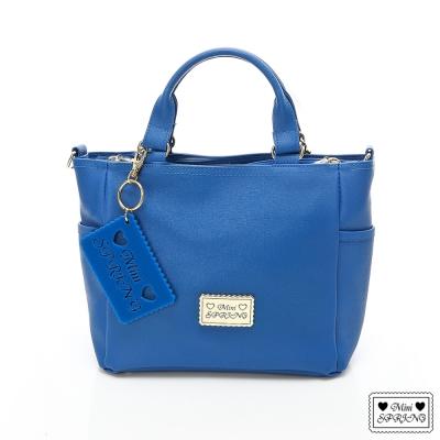MINI-SPRING-經典法式餅乾系列小手提包-D-oR藍色薄荷巧克力