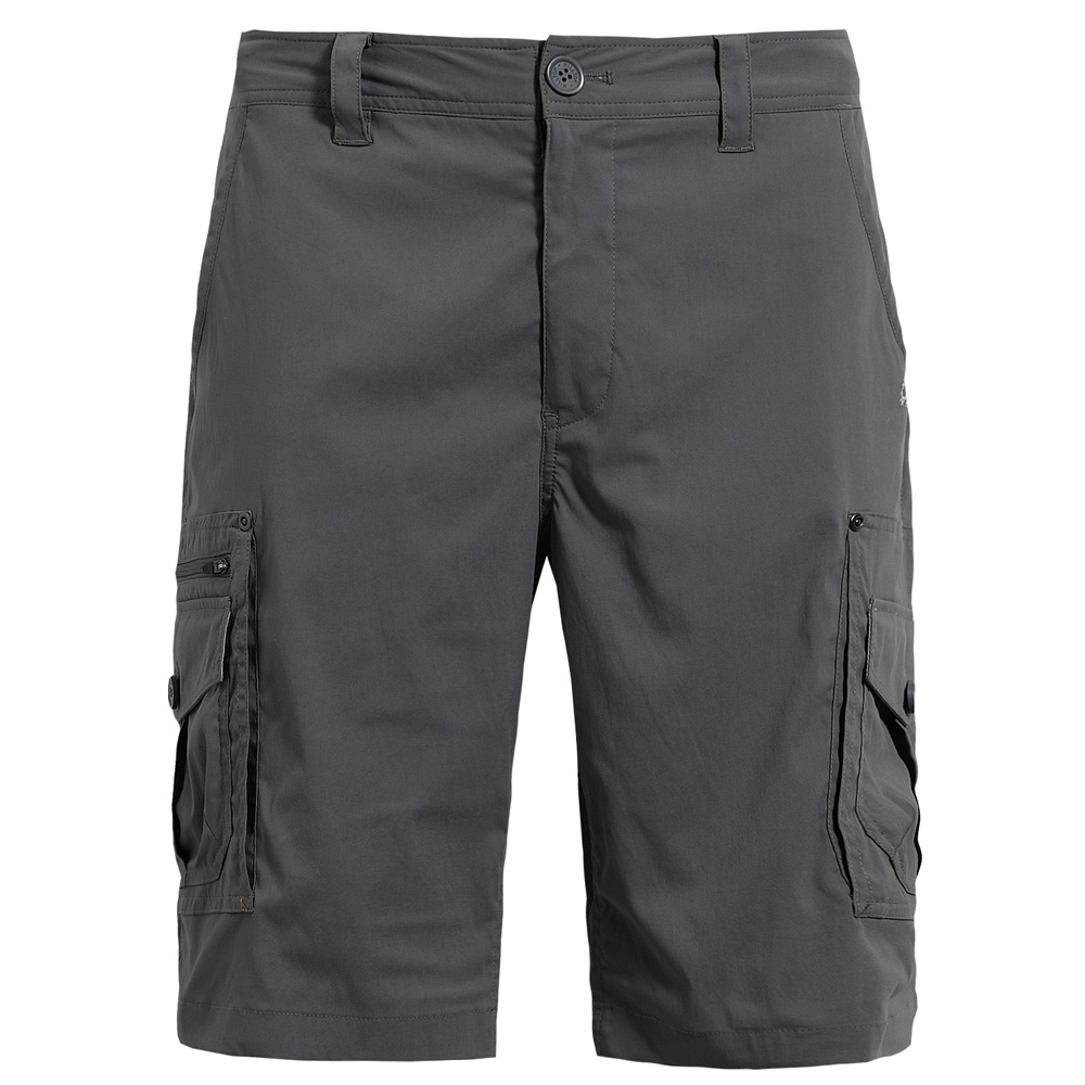 【hilltop山頂鳥】男款抗UV吸濕快乾彈性短褲S09M57-岩灰