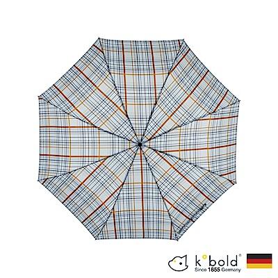 德國kobold酷波德 抗UV 超大防潑水商務傘 全自動傘 淺藍格子布