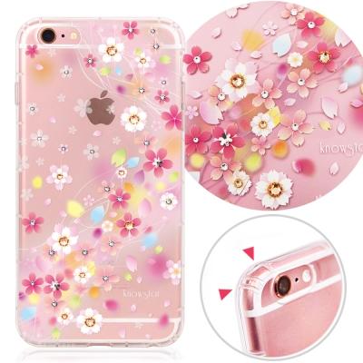 KnowStar APPLE iPhone6s Plus奧地利水晶彩繪防摔手機鑽殼-千本櫻