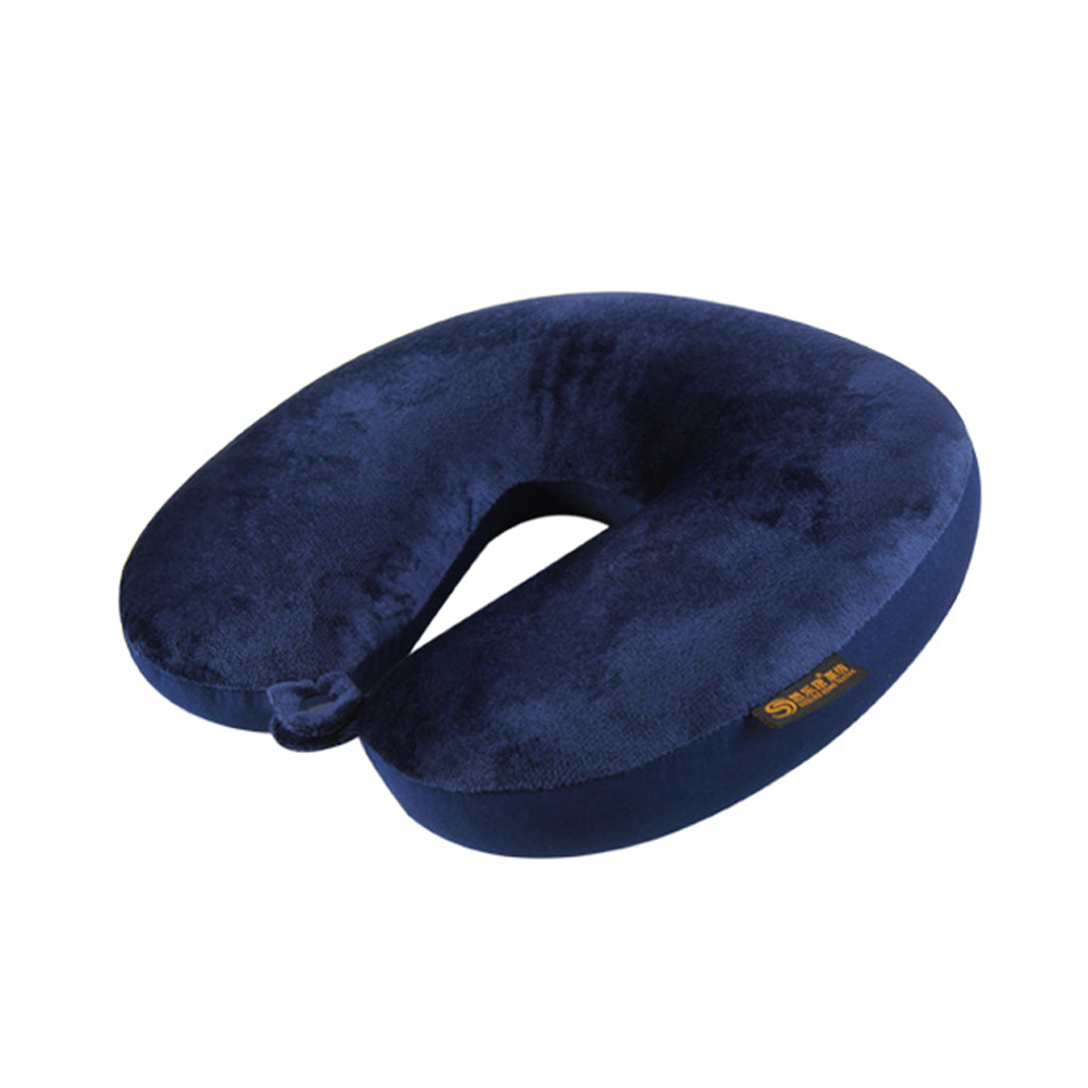 AOU 旅行配件 頸部工學U型枕 護頸枕 靠枕 午睡枕 (藏青色) 66-015