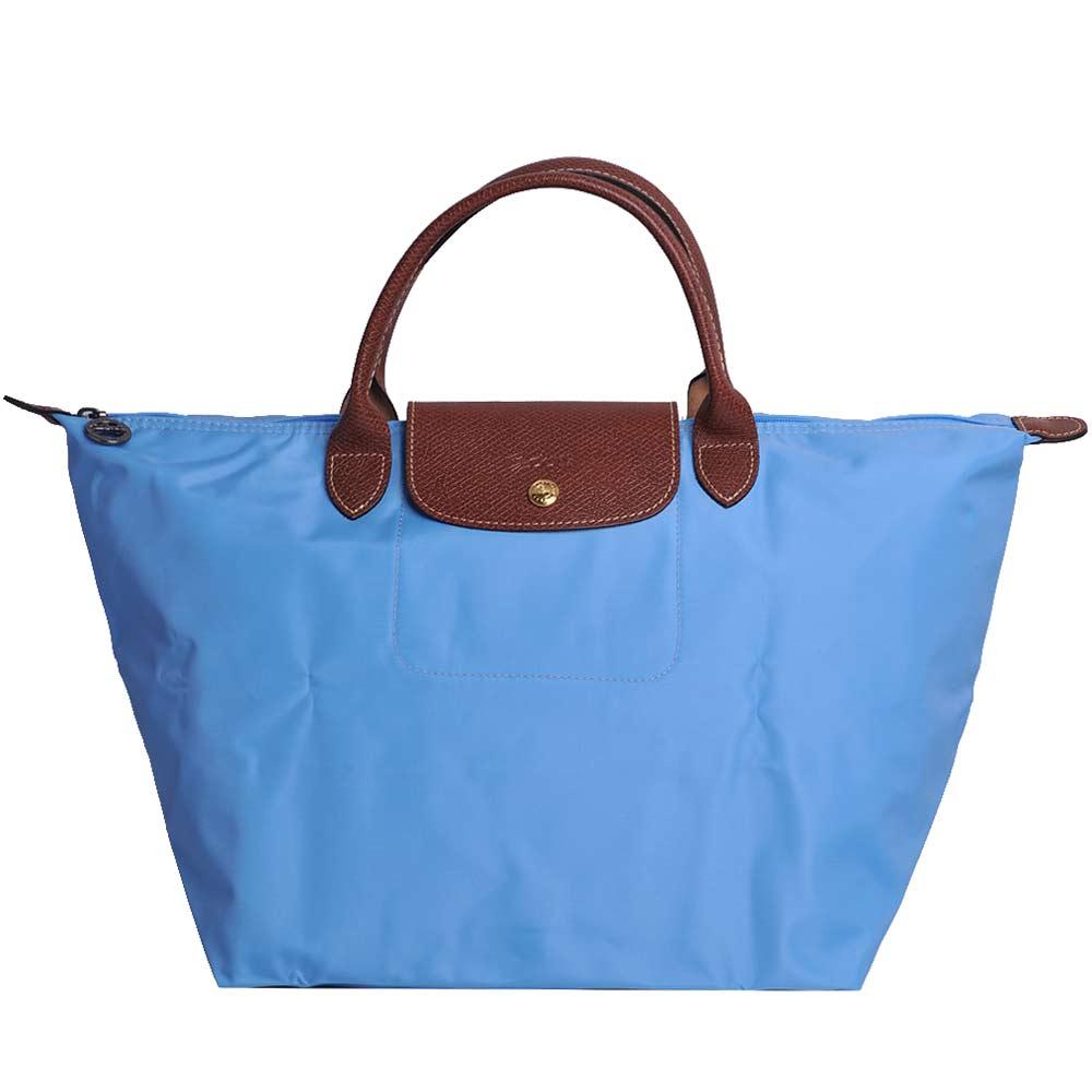Longchamp折疊中型手提水餃包(蔚藍)LONGCHAMP