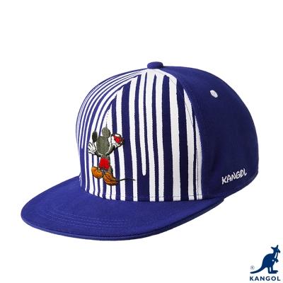 KANGOL-英國袋鼠-街頭系列-迪士尼聯名條紋配色平板帽-藍色