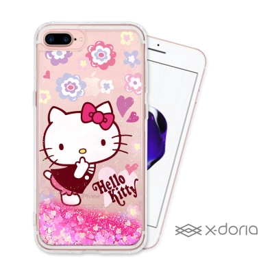 Hello Kitty iPhone 7 plus/8 plus 亮片流沙手機軟...