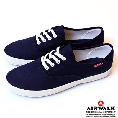 【美國 AIRWALK】繽紛一夏甜心女孩帆布鞋-女(丈青藍)