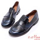 2.Maa-率性牛皮低跟包鞋-深藍
