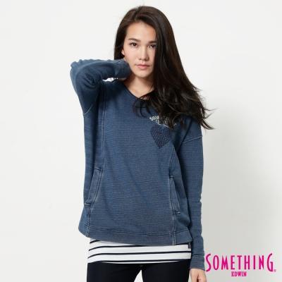SOMETHING-INDIGO兩件式T恤-女-中古藍