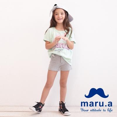 maru-a麻洛野-格紋配色拼接短褲-童裝