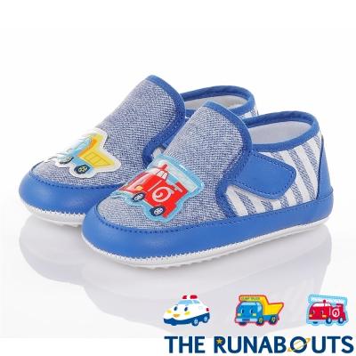 三麗鷗 THE RUNABOUTS  舒適輕量減壓寶寶學步童鞋-藍