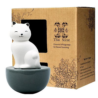 ThaiScent泰香 Aikot療癒貓擴香精禮盒(3款香氣任選)