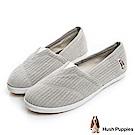Hush Puppies 簡約車棉咖啡紗懶人鞋-灰色