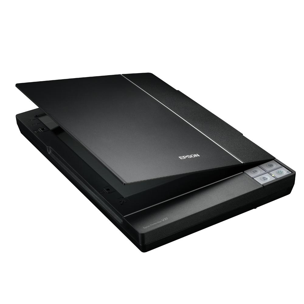 EPSON Perfection V37 輕薄時尚黑鑽個人掃描器