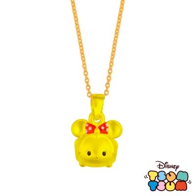Disney迪士尼TSUM TSUM系列金飾-黃金墜子-美妮款 送玫瑰鋼項鍊