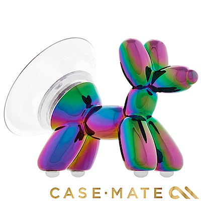 美國 Case-Mate 可愛氣球狗手機立架 - 酷鈦色