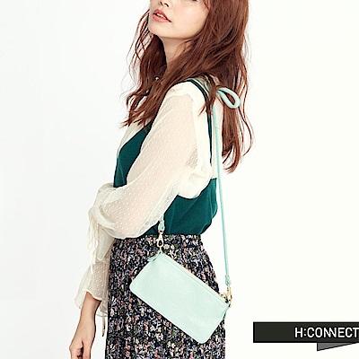 H:CONNECT 韓國品牌 質感皮革收納包-湖水綠