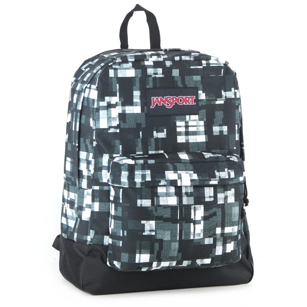 JanSport校園背包(BLACK SUPERBREAK)-立體方塊