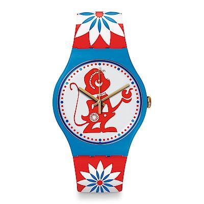 Swatch 生肖錶系列 LUCKY MONKEY 好運猴手錶