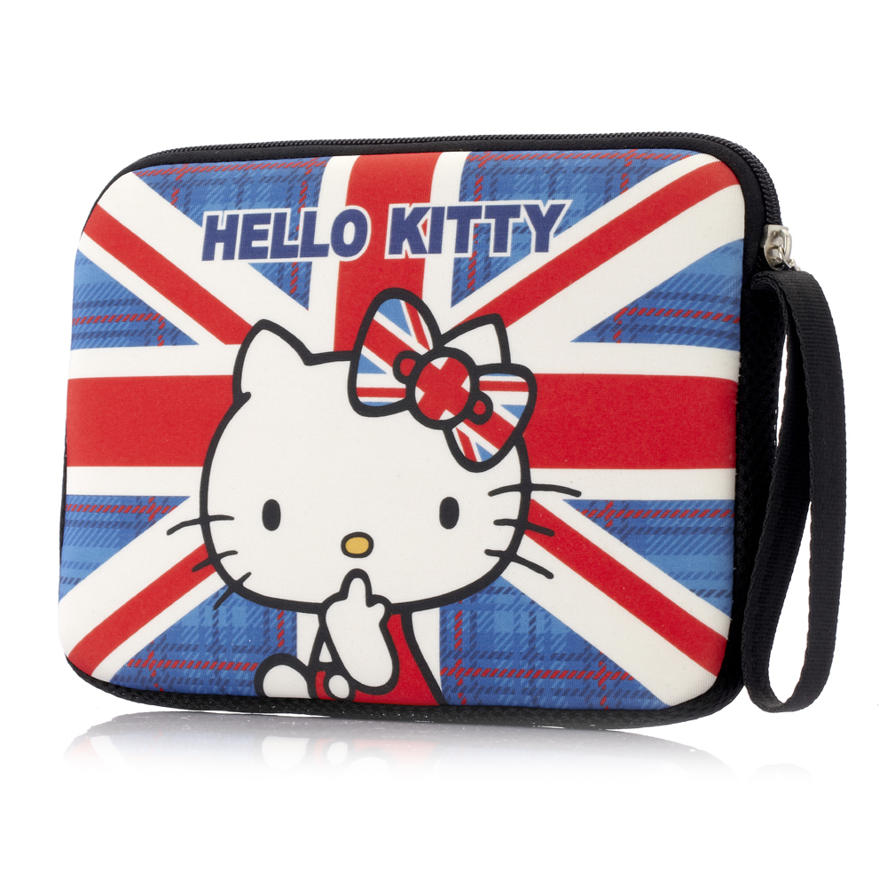 Hello Kitty 7吋平板保護袋-英倫風