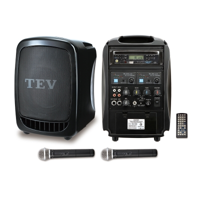 TEV  DVD/CD/USB/SD雙頻無線擴音機 TA330D-2