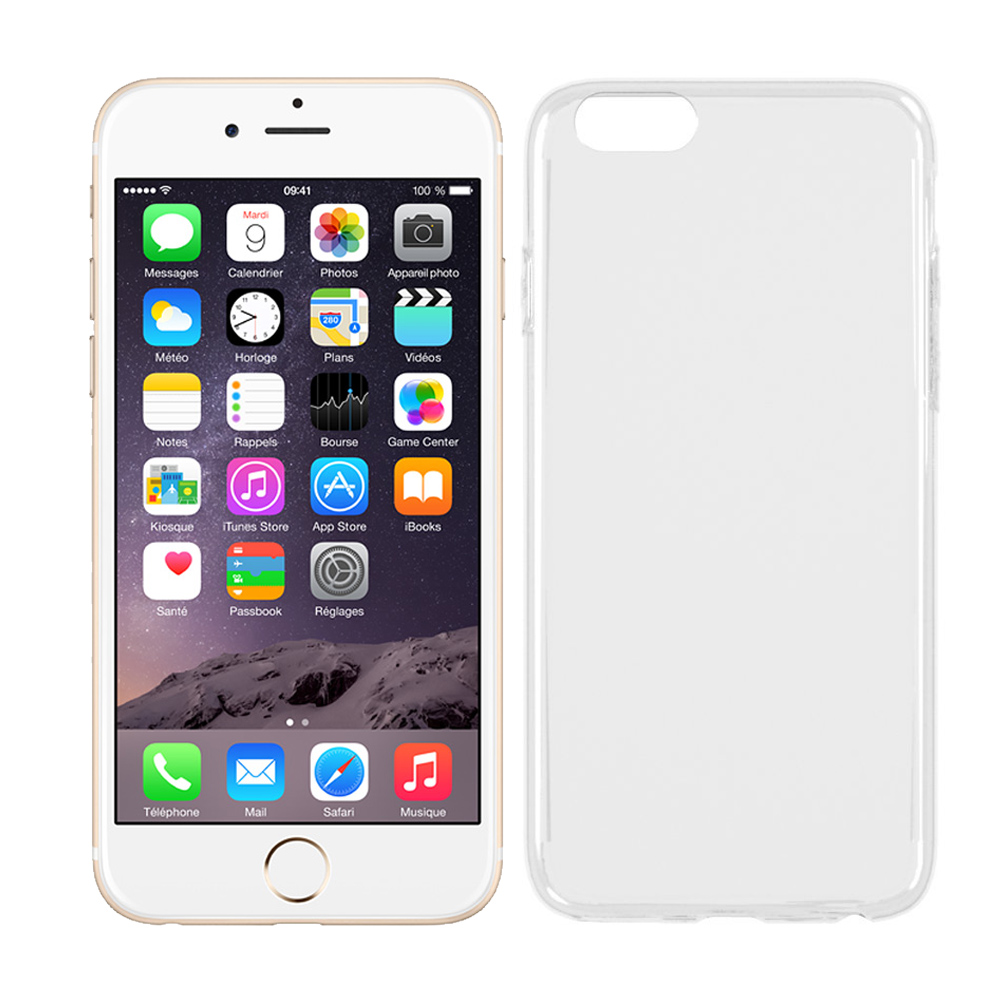 極簡派 Apple iPhone 6/6S Plus 透明保護殼 (送保貼)