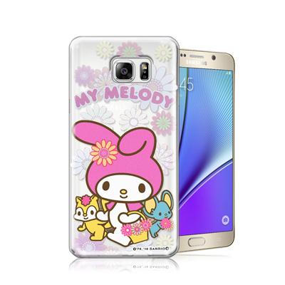 三麗鷗正版 美樂蒂 Samsung Galaxy Note 5透明軟式保護殼(郊...