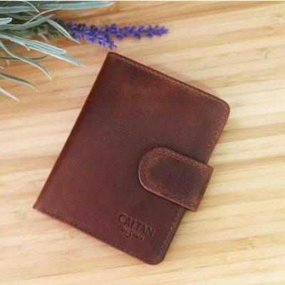 CALTAN - 男女用皮夾萬用質感多層卡片夾名片夾短夾- 2429ka