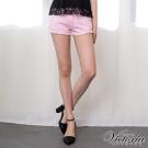 Victoria 天絲棉 男友色褲-女-粉紅