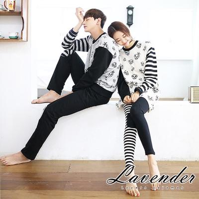 睡衣 搞怪骷髏頭情侶睡衣(男女組合)Lavender
