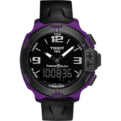 TISSOT T-RACE鋁合金多功能觸控錶(T0814209705705)-紫/42mm