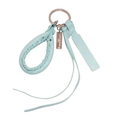 BALENCIAGA 巴黎世家City小橡膠釦提把造型吊飾鑰匙圈(粉藍色)