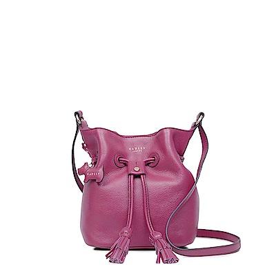 RADLEY ROSE COURT牛皮流蘇斜背水桶包(紫紅)
