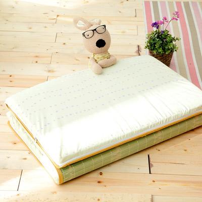 Saint Rose 單人台灣製純棉透氣精緻三折式冬夏兩用床墊-飛揚芭蕾