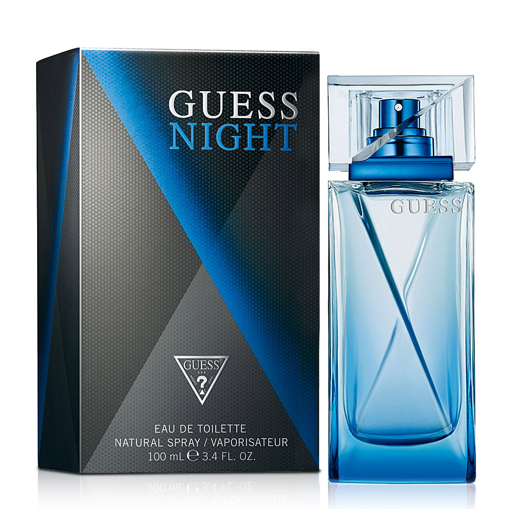 Guess Night 夜之酷男男性淡香水(100ml)-送品牌旅行包