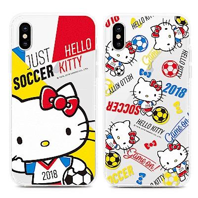 GARMMA  Hello Kitty iPhone X 防摔保護軟殼 世足限定