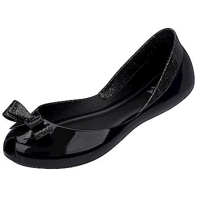 MEL 夢幻蝴蝶結娃娃鞋-童-黑
