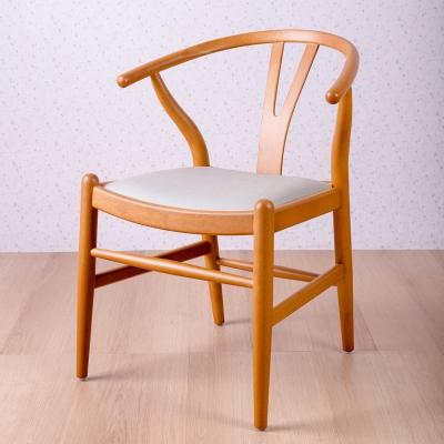 簡約風 美爾頓淺褐白餐椅-58x57x74cm