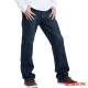 【BOBSON】男款嘻哈酷中直筒牛仔褲(深藍