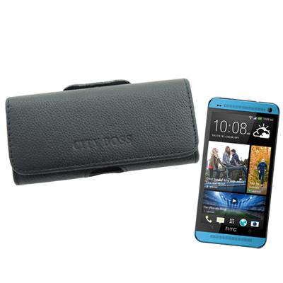 City boss HTC NEW ONE /X920D 皮橫式腰掛保護皮套
