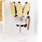 澄境 粉彩便利旋轉二層收納拖鞋架/室內拖-DIY