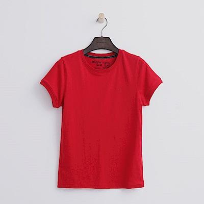 Hang Ten - 女裝 - 有機棉 圓領多彩T恤-紅色