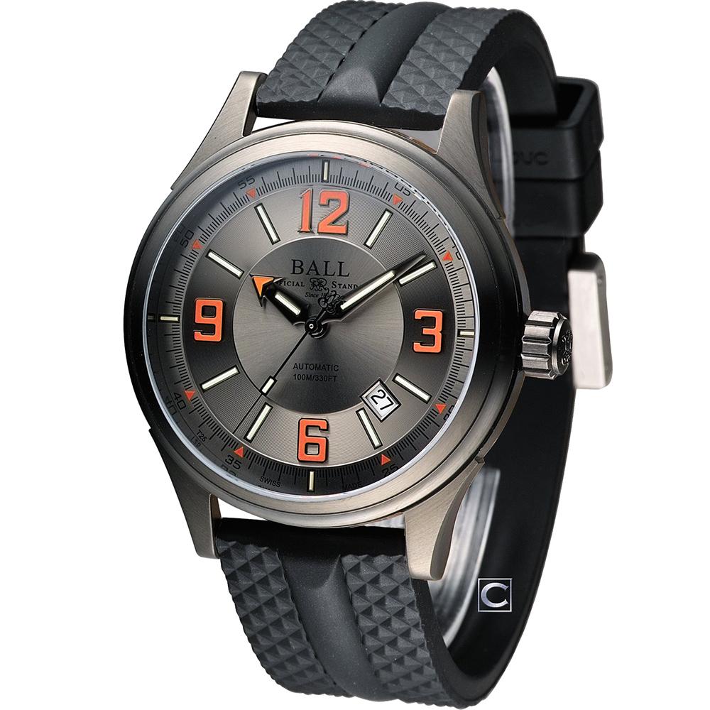 BALL 波爾 Fireman 隱形戰機機械腕錶-黑灰/43mm
