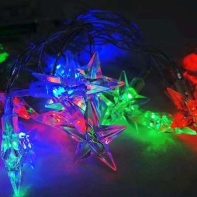 聖誕燈LED20燈透明星星電池燈(彩光)(高亮度又環保)