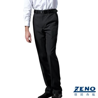 ZENO 簡約紳士精緻平面西裝褲‧黑色32-40
