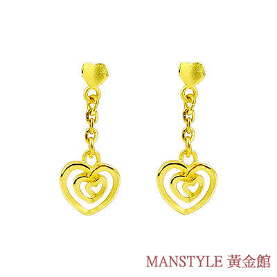 Manstyle「與愛在一起」黃金耳環