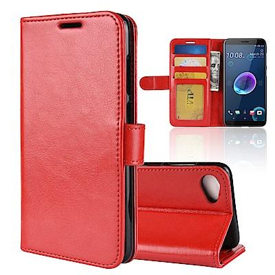 PKG HTC Desire12 Plus 側翻式皮套-經典系列-紅