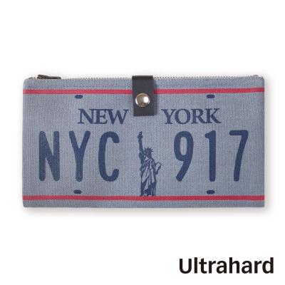 Ultrahard 雙拉鍊筆袋~City Road 系列 紐約車牌 New York