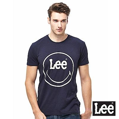 Lee X Smily 聯名短袖圓領TEE-男款-藍