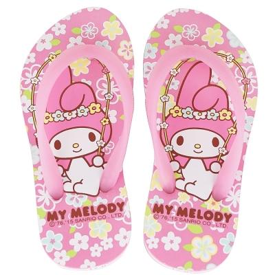 MyMelody 美樂蒂40週年限定鞋款夾腳海灘拖鞋童鞋-粉