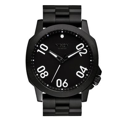 NIXON RANGER 45 SS 星際領航員時尚潮流腕錶-黑x鋼帶/45mm