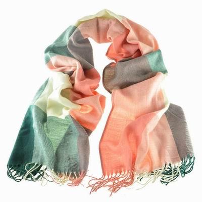 【Decoy】蘇格蘭格紋*寬版編織圍巾/紅綠